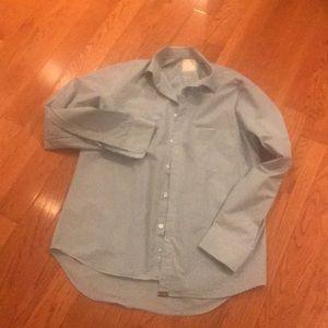 Billy Reid large standard cut blue check shirt